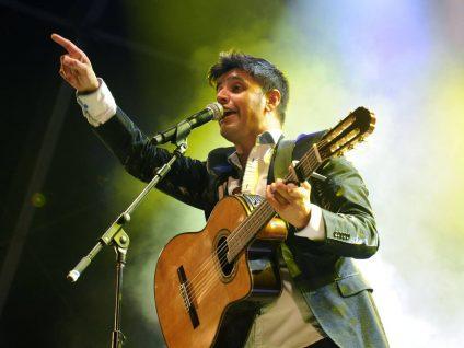 Valladolid, 5/9/2017. Jaime Valentin en la Plaza Mayor. Foto Ricardo Otazo.